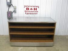 5' Stainless Steel Top Heavy Duty Wood Work Table Cabinet w/ Triple Under Shelf