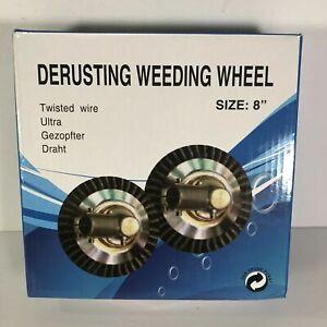 New 8 Inch Steel Wire Wheel Brush Grass Trimmer Head Weed Cleaning Garden Farm