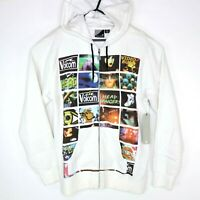 Volcom Skullux Video Mens Size S Hoodie White Full Zip