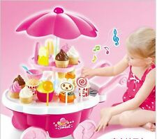 candy icecream car with light music for girl gift pink Educational kids