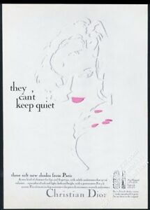 1967 Christian Dior pink lipstick nail polish vintage print ad