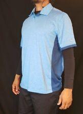 Men's Nike Golf Polo Shirt Size Large Light Blue Tour Performance Dri-Fit Guc!