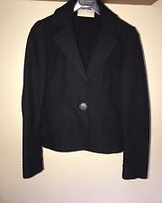 Women's Valentino black fitted jacket with slight stretch - size 8