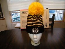 BOSTON BRUINS REEBOK CUFFED KNIT HAT WITH POM, FACE OFF COLLECTION, NWT