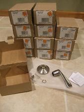 NEW! Lot TWELVE (12) SCHLAGE Single Dummy Door Lever Leverset LH Chrome Nickel
