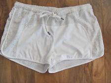 David Lerner Running Shorts- Pull-on - Natural/Ivory -Size Large - NWT $88