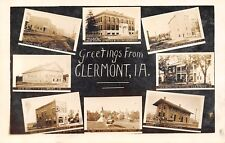 Clermont IA~Multi Mini View~RR Depot~Mill & Power House~Cannon~Main St~1912 RPPC