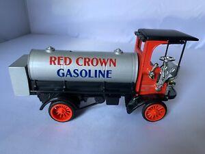 ERTL Red Crown Gasoline Diecast Truck Bank 1910 Mack Manhattan 4 ton Tanker