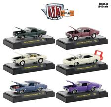 1:64 M2 Machines Detroit Muscle R43 = COMPLETE SET OF of 6 *CHANCE AT CHASE CAR*