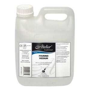 Atelier Traditional Pouring Medium (Puddles & Skins) - Huge 4 litre Bottle