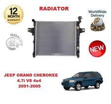 FOR JEEP GRAND CHEROKEE MK2 4.7 V8 4x4 2001-2005 NEW RADIATOR UNIT