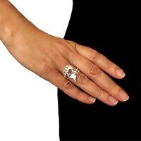 Large 925 Silver Fish Bone Skeleton Wrap Ring Adjustable Size Gift Boxed