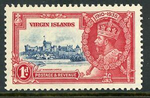 British 1935 Silver Jubilee 1d Virgin Islands Scott #72 Mint C457