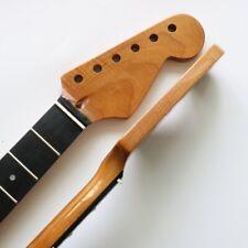 Canadian baked maple Strat electric guitar neck 22 light black wood fingerboard