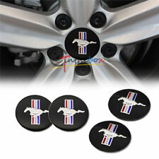 4PCS 56.5mm Running Horse Wheel Center Hub Caps Emblem Badge Sticker For Mustang