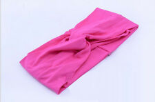 Women Cotton Turban Twist Head Knot Headband Wrap Twisted Knotted Hair Band