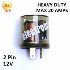 2-Prong Round Electronic LED Turn Signal Flasher Blinker Relay EF32 12V 20A USA