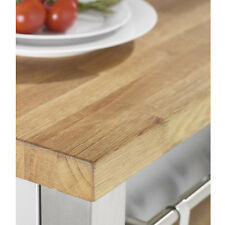 Rustic Oak Worktop, Solid Wood Timber Worktops 3m x 620 x 27mm, 40mm Staves
