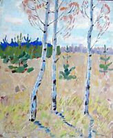 Sothebys painting art IMPRESSIONISM Grigori Shponko socialist realism vintage