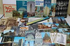 Vintage New York City Paper Souvenir Items - Brochures Booklets Postcards