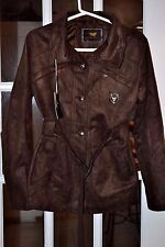 EA Collection Italy Style Women's Jacket Dark Brown Four Button Size M New NWT