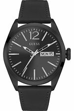 Guess Men's Dress Sport Stainless Steel Leather Watch W0658G4