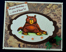 FAT BEAR (You get photo # 2 no words)L@@K@examples ART IMPRESSIONS RUBBER STAMPS