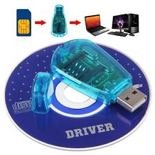 USB Cellphone Standard SIM Card Reader Copy Writer SMS Backup GSM/CDMA+CD Blue