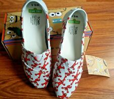 TOMS Women's SZ  6.5 Slip On SESAME STREET Alpergata ELMO Shoes NEW~ FREE SHIP