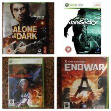 Pack 4 juegos Xbox 360 ALONE IN THE DARK,DARK SECTOR,DEVIL MAY CRY 4 y ENDWAR