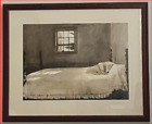 PAINTING PRINT ANDREW WYETH MASTER BEDROOM FRAMED ART PICTURE 34 1/2x27 1/2 DOG
