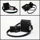 black or  white camera leather case bag pouch for Nikon Coolpix W300 W100