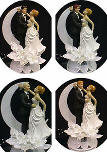 Blond Hair Bride Wedding cake topper PICK Blond, Red or Brown hair Groom