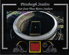 PITTSBURGH STEELERS 3 RIVERS STADIUM SEAT 8 X 10 COA