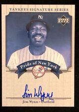 JIM WYNN 2003 UPPER DECK YANKEE SIGNATURE SERIES Autographed Baseball Card JSA