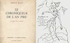 EO N° MARCEL BEALU BELLE DÉDICACE & DESSIN ORIGINAL  LE CHRONIQUEUR DE L'AN PIRE