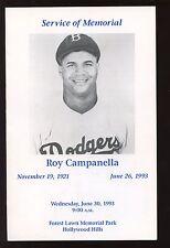 1993 Roy Campanella Memorial Program Autographed 4 Signatures #1  Hologram