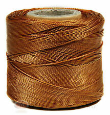 Brown 251 Yds. 229m. Conso Nylon Cord Lace Craft and Jewelry Beading Stringing