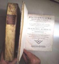 DIZIONARIO ITALIANO FRANCESE ACCADEMIA CRUSCA FRANCESCO ALBERTI 1798 2 TOMI