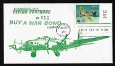 #3142t 32c Classic American Aircraft - Wildcat - Flying Fortress Cachet FDC