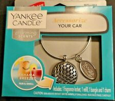 NEW Yankee CandleCHARMING SCENTS~Refillable Round Fragrance Locket BAHAMA BREEZE