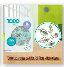 TODO Letterpress and Hot Foil Plate - Holly Cluster