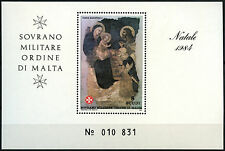 Malta Military Order At Vatican City 1984 MNH M/S #D40580