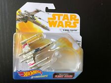 STAR WARS X-WING FIGHTER RED FIVE Hot Wheels flight stand 2018 starships SOLO