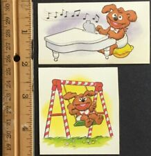 Dated 1983 Christmas The Muppets Vintage Hallmark Stickers