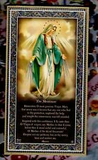 """Our Lady with Memorare Prayer - Gold Foil Plaque (5"""" x 9"""")"""