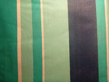 "Tablecloth 52"" x 70"" Oblong Blue Green White Stripe Casual Vinyl Table"