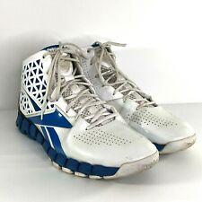 Reebok ZigTech Zig Slash Mens Sz 12 Basketball Shoes White Blue EUR 45.5 SH627