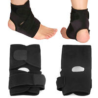 1 Pc Adjustable Black Ankle Foot Support Elastic Brace Guard Football Basketball