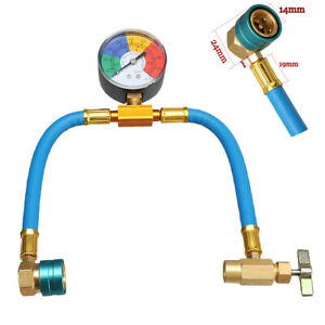 R1234yf Refrigerant Charging Hose+Manifold Gauge Fit For Car Air-conditioning